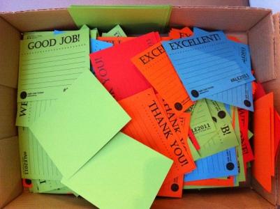 Appreciation cards in all colors
